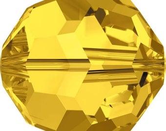 Swarovski Crystal Round Beads 5000 - 4mm 6mm 8mm 10mm - Light Topaz