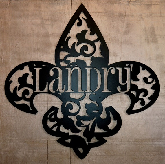 Personalized Fleur De Lis Wall Decor