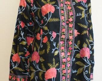 Kashmiri handmade embroidred jacket size 44