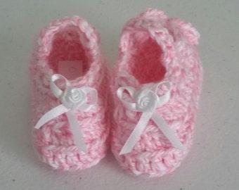 Baby Booties Pink- Size Newborn