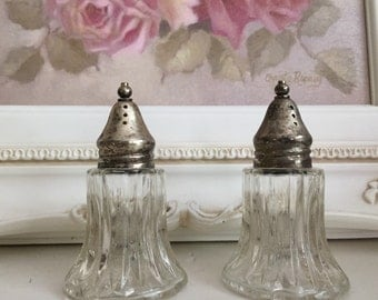 Salt and Pepper Shakers Crystal