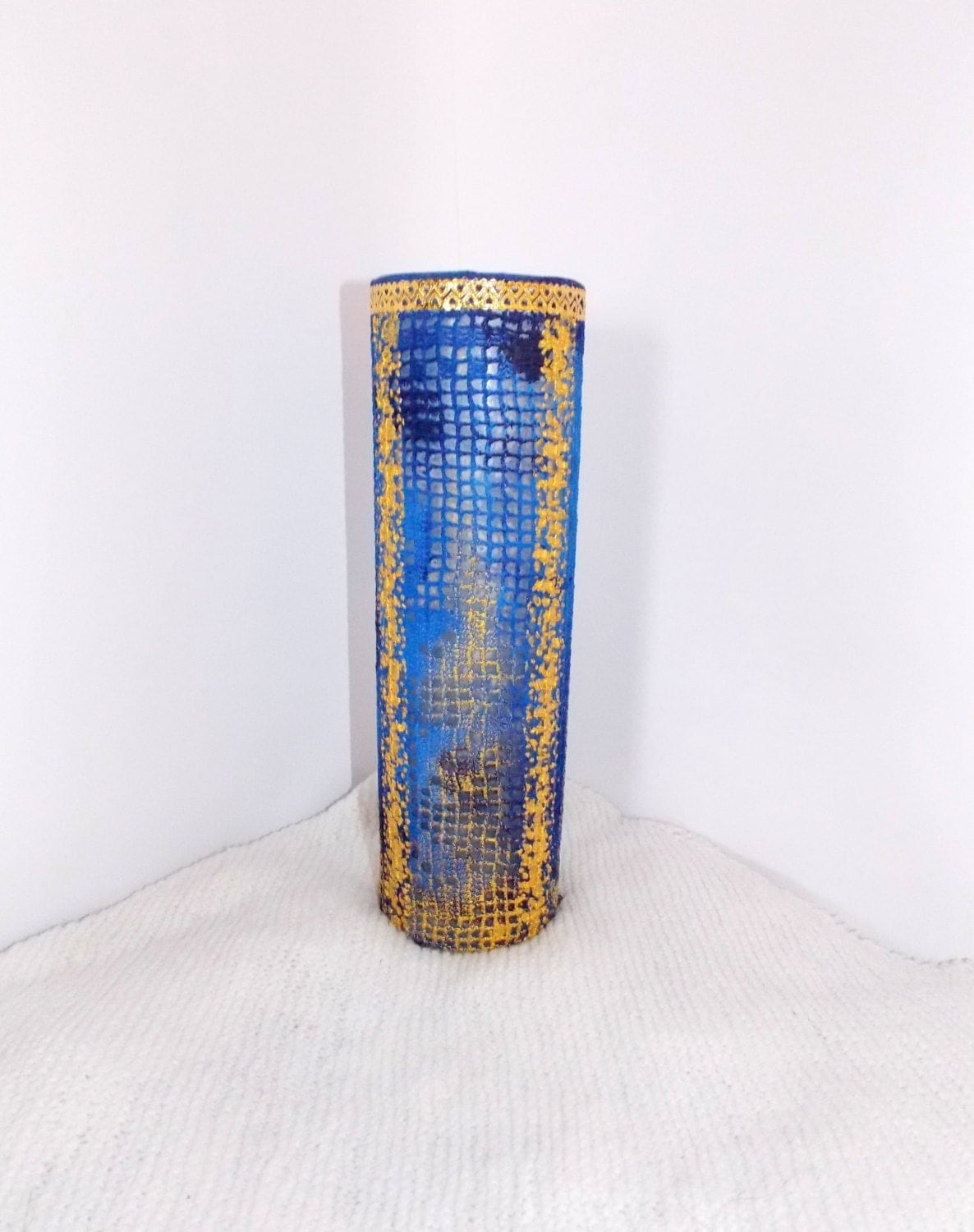Vase glass vase hand painted acrylic paints vases by for Acrylic paint for glassware
