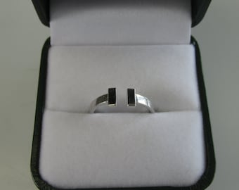 T Bar Ring - White Gold, Yellow Gold, or Sterling Silver