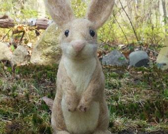 Bunny needle felted handmade wool rabbit