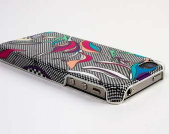 Graphics and female shell Iphone 4 / 4s pattern iris
