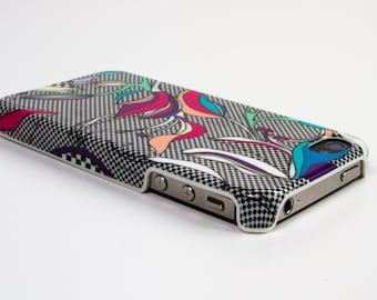 Graphic and feminine case Iphone 4 / 4s iris pattern
