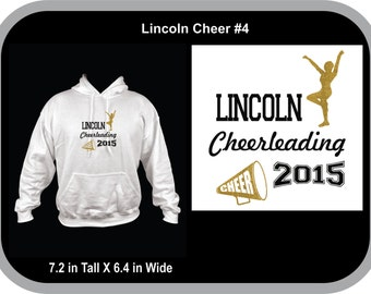 Lincoln Cheer Sweatshirt  Can be Personalized