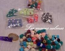 Lot of 40 miniature balls of wool