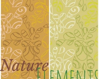 Nature Elements by Art Gallery Fabrics, blender, gold, pistachio, green, yellow, leaves