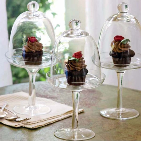 Mini Glass Cake Holder