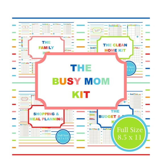 Best Busy Mom Planner | Calendar Template 2016