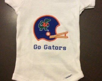 Florida Gator Applique Onesie