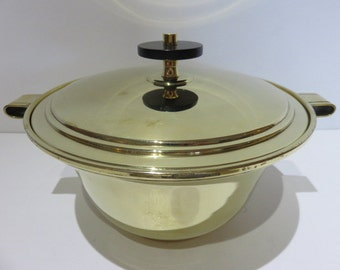 Brass Cover Bowl By Tommi Parzinger Mid-Century Modern.