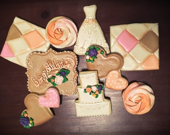 Custom Bridal Cookies