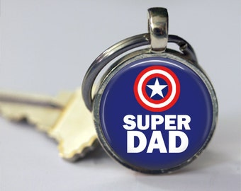 Super Dad Keychain, Fathers Day Gift, Fathers Day Keychain, Fathers day Gift from Daughter, Fathers Day gift from Kids