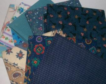 Fat Quarters  8 Bundle  Assortment 100% Cotton ,Quilting,sewing,scrap booking,deco,cloth, L