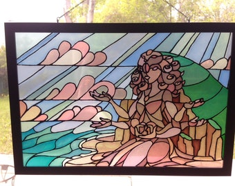 Crystal Gem Temple Stained Glass
