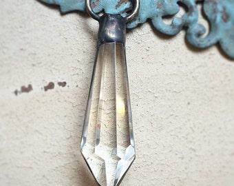 Antique Bronze Soldered Chandelier Crystal Pendant