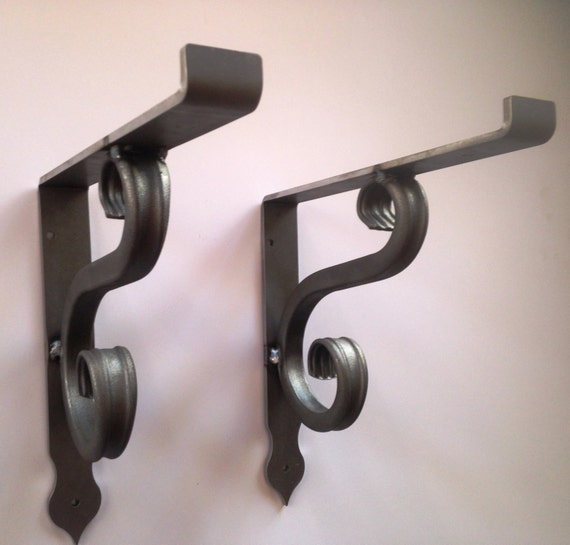 custom scroll shelf bracket wrought iron heavy duty shelf. Black Bedroom Furniture Sets. Home Design Ideas