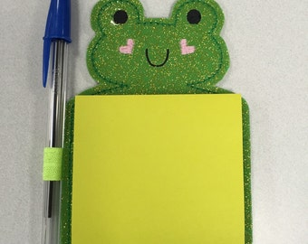 Frog post-it note holder