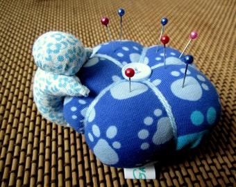 Sarubobo pin cushion, blue monkey, sewing gift, pin cushion cute