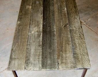 rectangular coffee table in antique oak