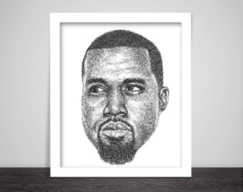 Scribbled Kanye West - Hip Hop Poster
