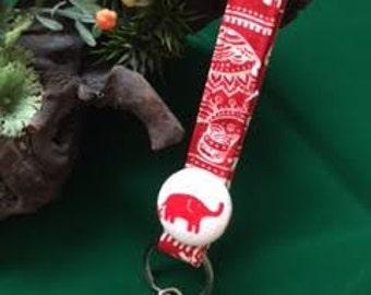 Handmade fabric keychain