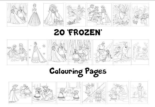 Frozen Coloring Pages A4 : Frozen colouring book pack a sheets rainy day