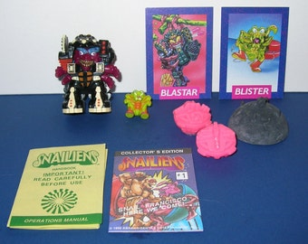 Vintage 1992 Snailiens Blaster and Blister Figure (Mint and Complete)