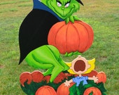 Mr. Grinch stole the Great Punkin from the Peanuts gange