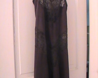 Black Lace Nightgown From The 70's