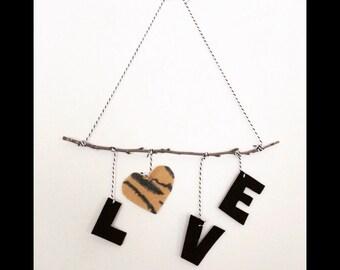 LOVE wall hanging for home, kids room, nursery