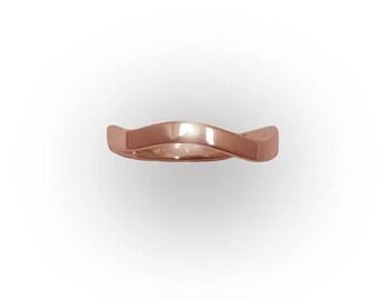 Wave Ring 14k Rose Gold
