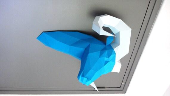 sculpture en papier t te danimal belier assembler. Black Bedroom Furniture Sets. Home Design Ideas