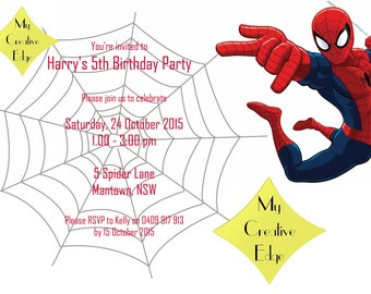 Digital Birthday Invitation - Spiderman