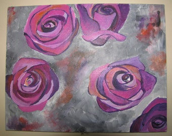 Roses , Acrylic Painting