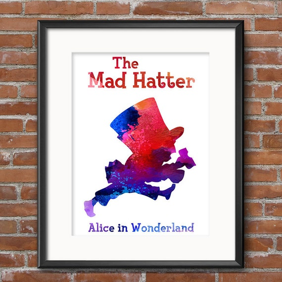 alice and the mad hatter litho graphic printing process