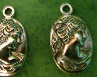 Silver Cameo Charms