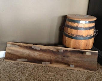 Antique barn wood herb-drying rack