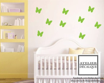 Wall Sticker no. E- 011 - 10 Flight of Butterflies - child Decal
