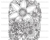 instant download adult flower designs adult coloring page