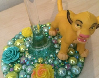 Disney Lion Kings Simba Wine Glass