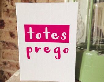 Totes Prego - Congratulations New Baby Pregnancy card