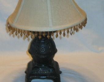 Vintage Pot Bellied Stove Lamp