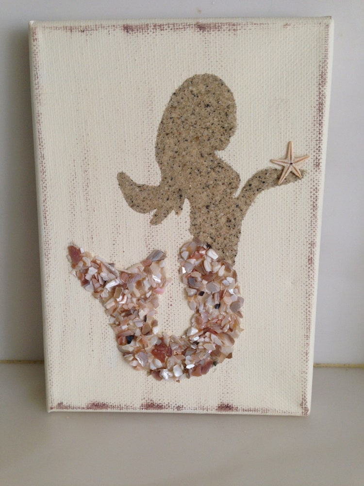 Mermaids Canvas Coastal Decor Coastal Art By