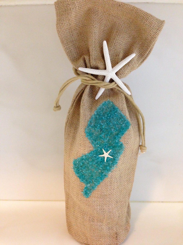 Burlap wine bags burlap decor wine bags jersey decor wine for Decorative burlap bags