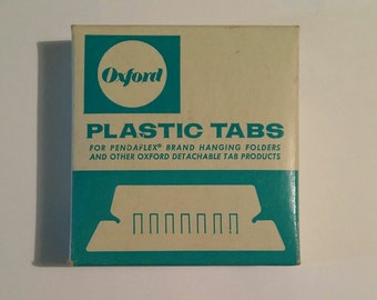 Vintage Oxford Plastic tabs Stock No. 42