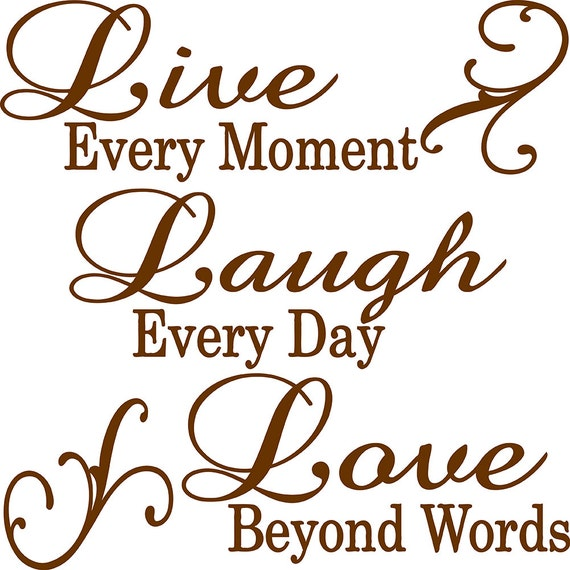 Beyond Words Customizable Wall Decor Kohls : Live every moment laugh day love beyond words wall quote