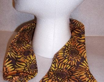 Sunflower burst, batik fabric, sethoscope cover